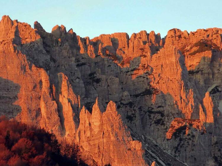 51 Piccoli Dolomiti Sonnenaufgang