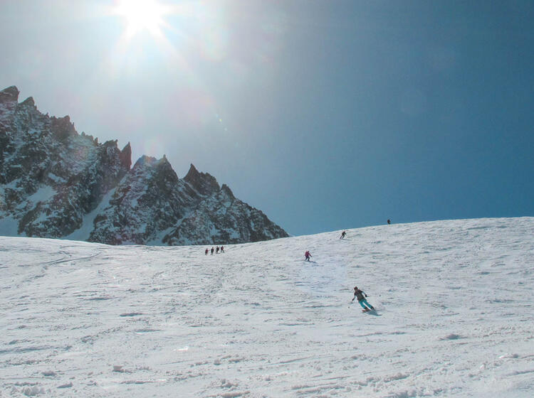 Abfahrt Auf Der Gefu Hrten Skidurchquerung Haute Route