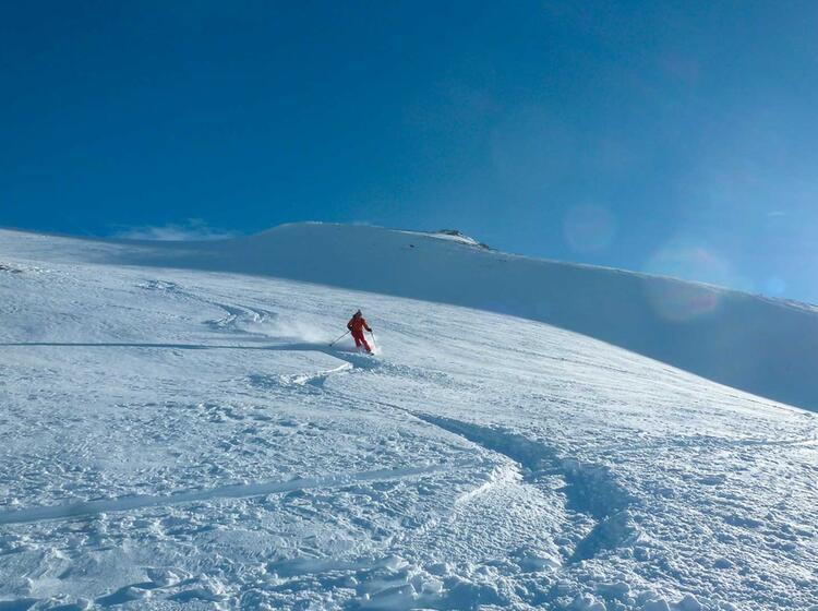 Abfahrt Auf Der Heidelberger Hu Tte Am Skitourenkurs Und Tiefschneekurs U Ber Silvester