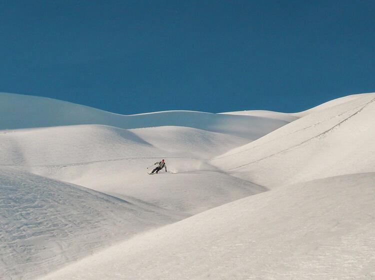 Abfahrt Auf Der Skitourenwoche