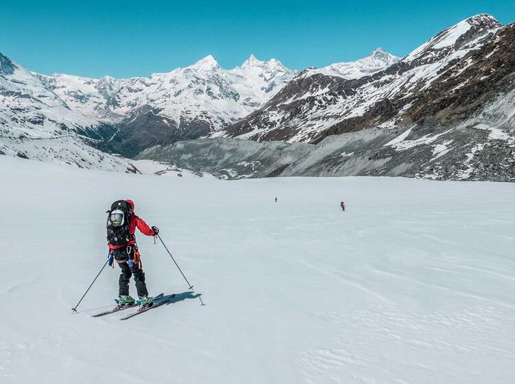 Abfahrt Nach Zermatt Vorbei Am Matterhorn
