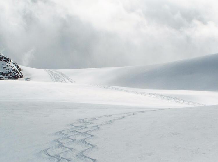 Abfahrt Vom Strahlhorn Auf Skitour