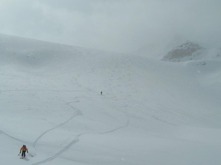 Abfahrt Zur Sesvenna Hu Tte Bei Der Skitouren Woche Im Vinschgau