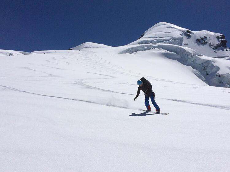 Abfahrten Mit Dem Splitboard Auf Dem Gletscher