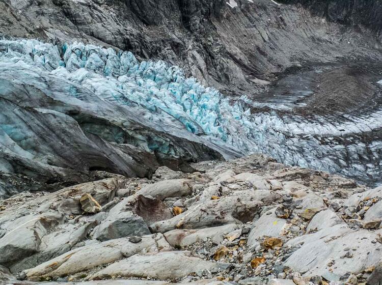 Abstieg Ins Wallis Vom Gletscher Trekking