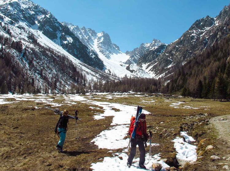 Abstieg Ins Wallis Vom Mont Blanc Massiv