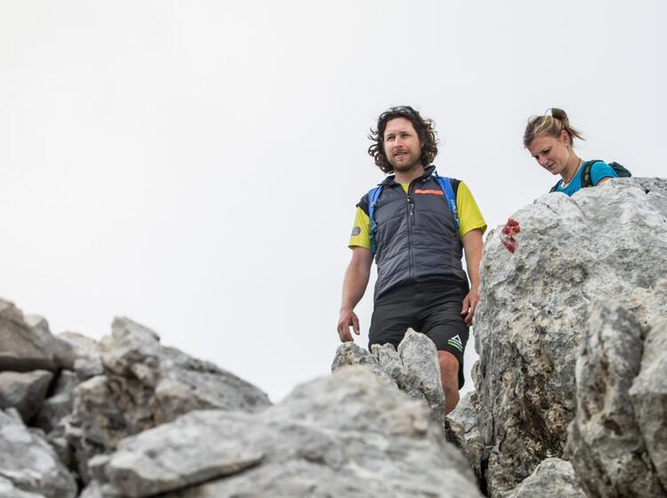 Abstieg Ueber Den Nordwandsteig Von Der Alpspitze