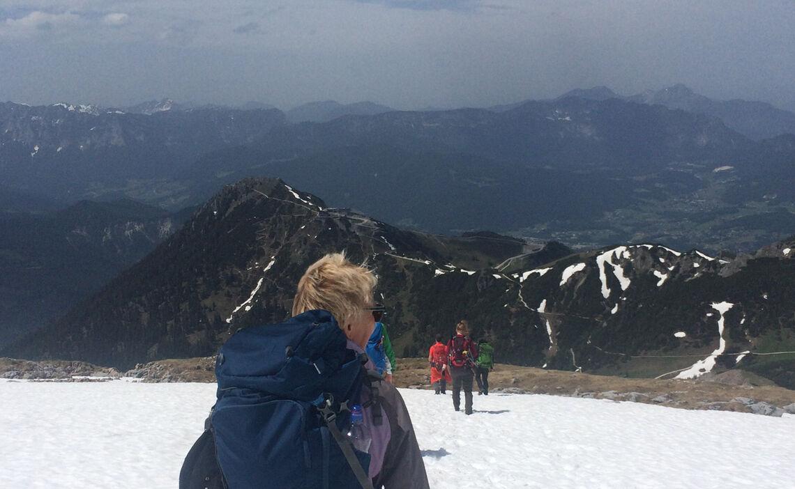 Abstieg Vom Schneibstein Beim Kurs Bergwandern In Berchtesgaden