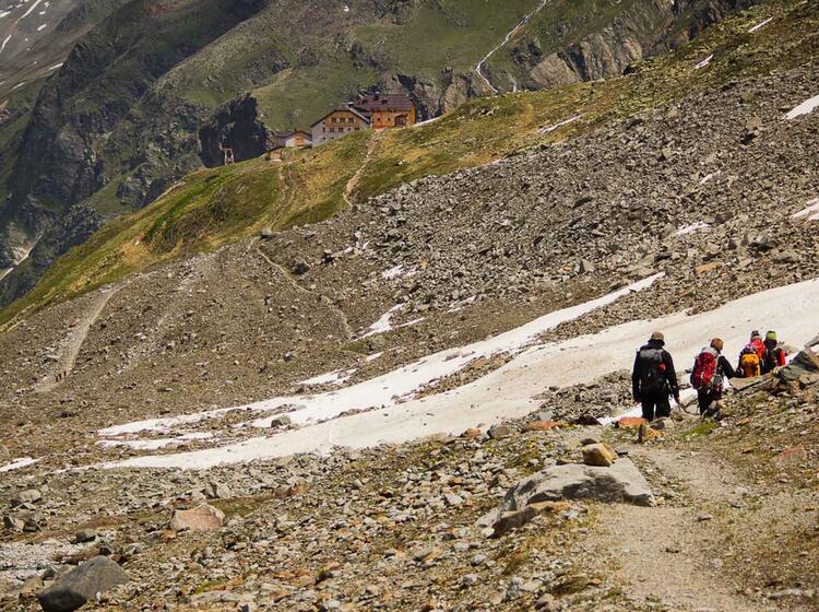 Abstieg Zum Taschachhaus Am Hochtourenkurs