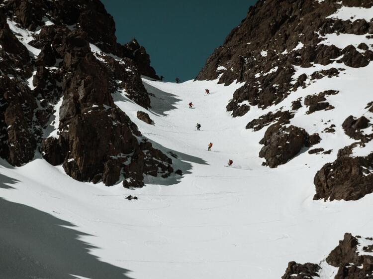 Afrikanischer Firn Bei Der Skitourenreise Marokko