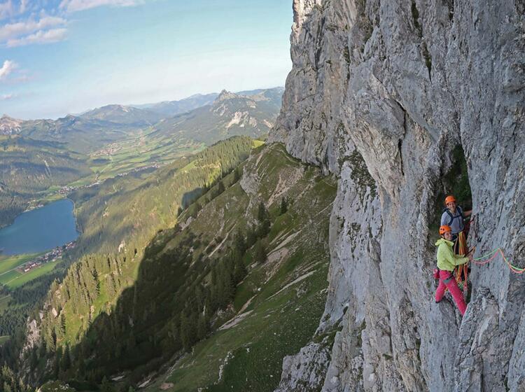 Alpinkletterkurs Im Tannheimer Tal Mit Bergfuehrer