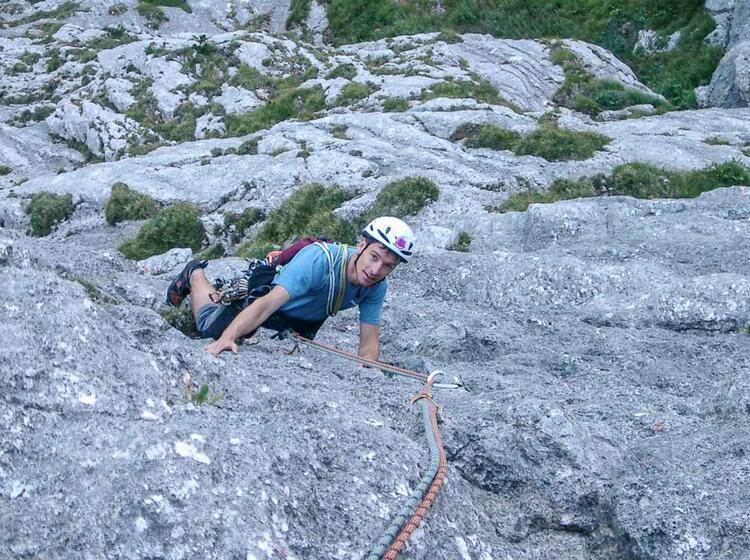 Alpinklettern Mit Bergfuehrer