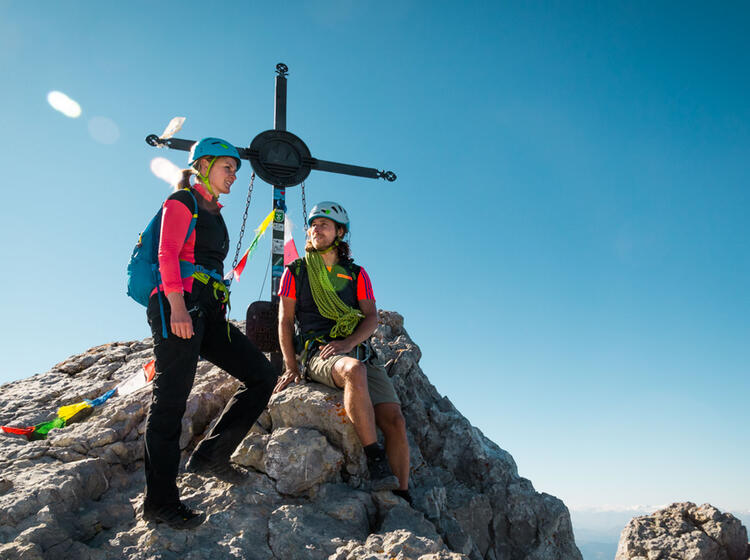 Am Gipfel Der Watzmann Mittelspitze