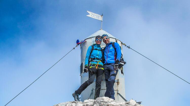 Am Gipfel Des Triglav Klettersteig