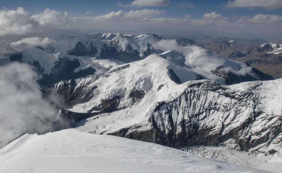 Am Gipfel Himlung Himal Expedition