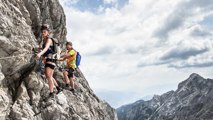 Klettersteig Tegernseer Hütte : Klettersteig touren mit bergführer in den alpen