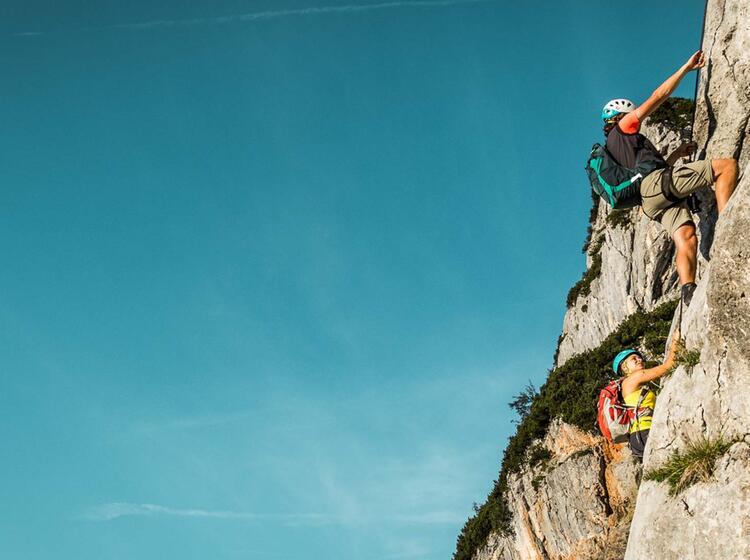 Anspruchsvoller Klettersteig Am Untersberg Hochtronsteig