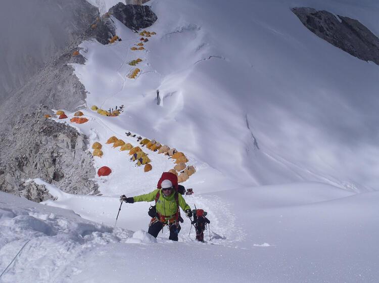 Anstieg Auf Den Achttausender Cho Oyu