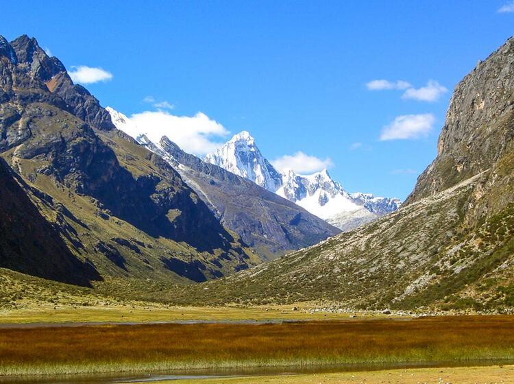 Auf Dem Trekking Zum Alpamayo