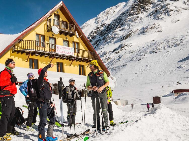 Auf Der Balea Lac Huette Skitouren In Rumaenien
