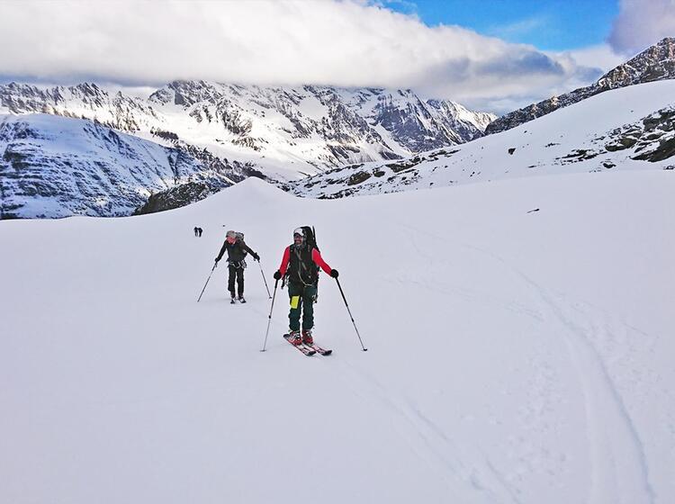 Auf Skiern Im Gran Paradiso Nationalpark