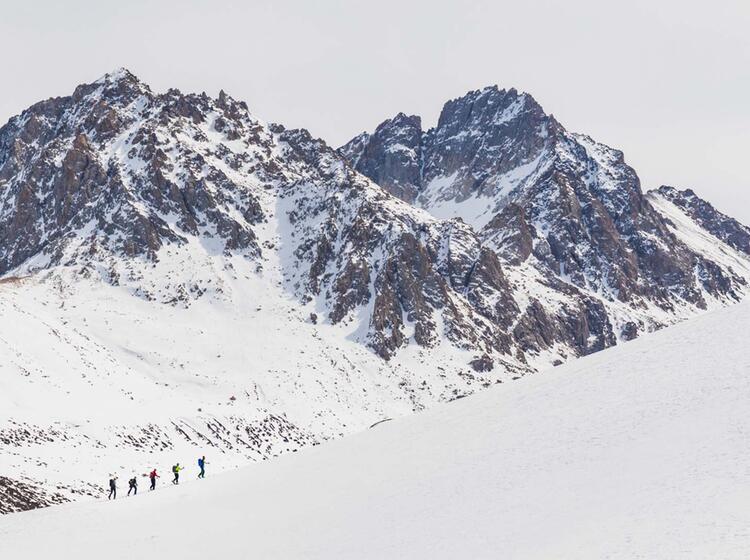 Auf Skitour Im Himmelsgebirge In Kirgistan