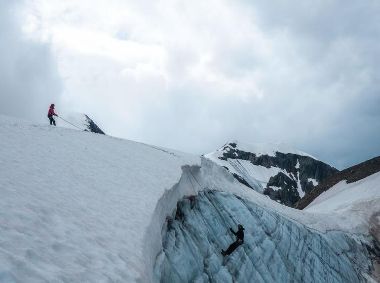 Aufbau Gletscherkurs In Der Schweiz