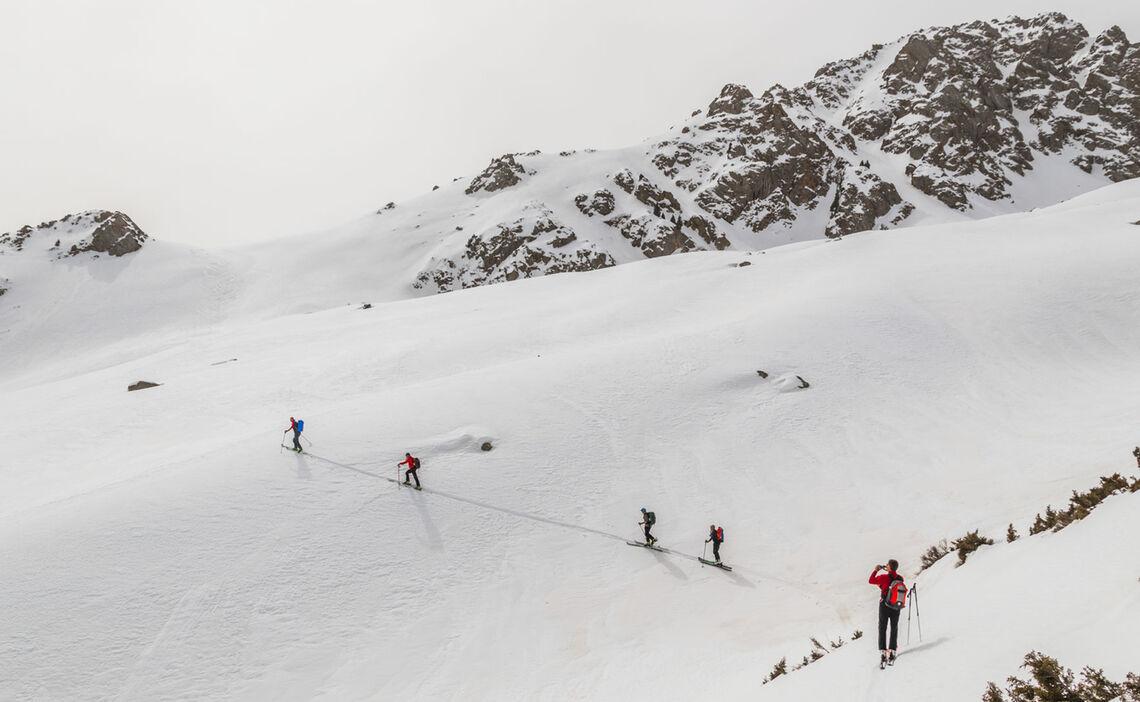 Aufsteigen Zu Den Gipfeln In Jergalan Kirgistan