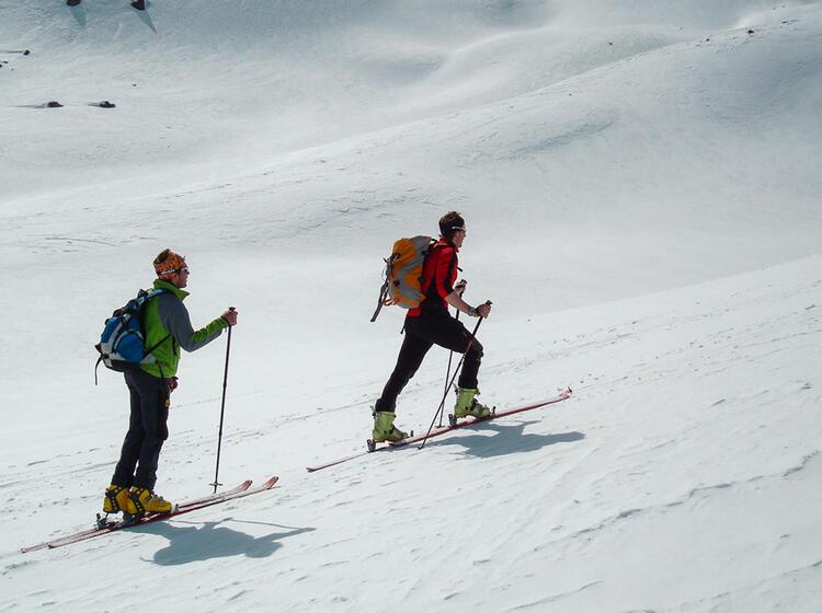 Aufstieg Auf Der Skitour Hoch Tirol