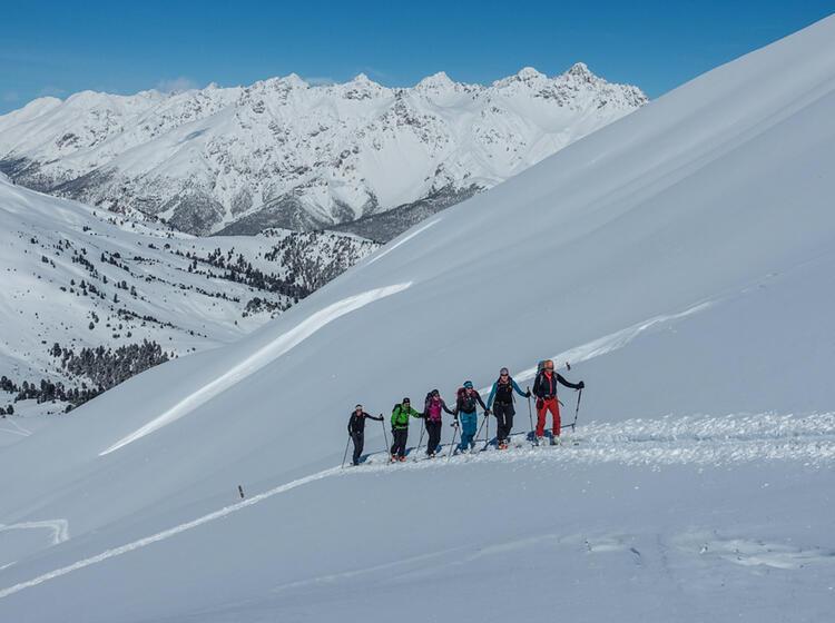 Aufstieg Bei Den Genuss Skitouren Val Muestair