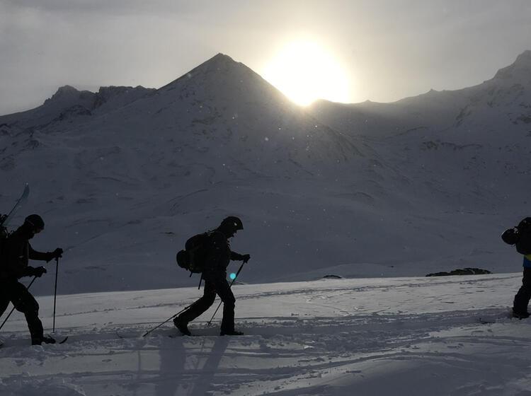 Aufstieg Mit Dem Splitboard Und Mit Schneeschuhen