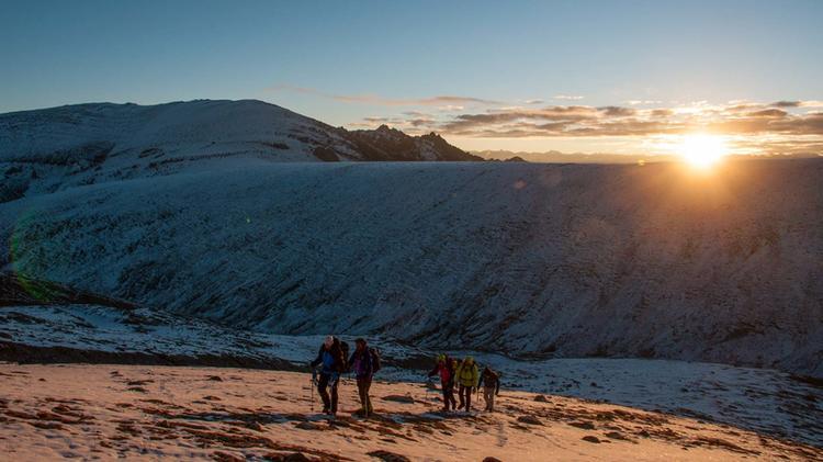 Aufstieg Vom Dso Yongo Basislager Auf Der Trekkingreise Ladakh