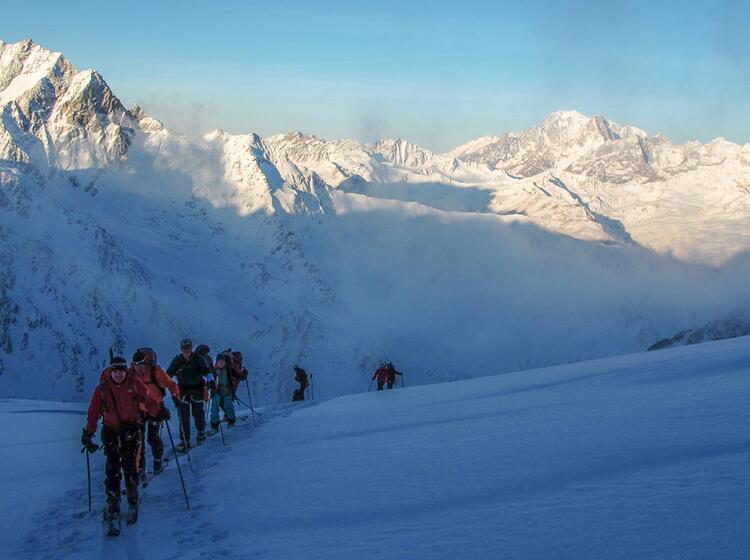 Aufstieg Von Der Valsorey Hu Tte Auf Der Haute Route