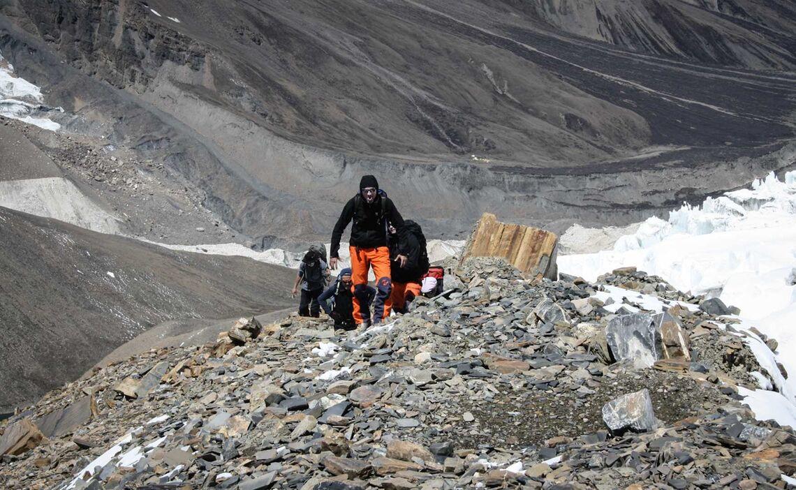 Aufstieg Zum Gletscherbeginn Nach Lager I
