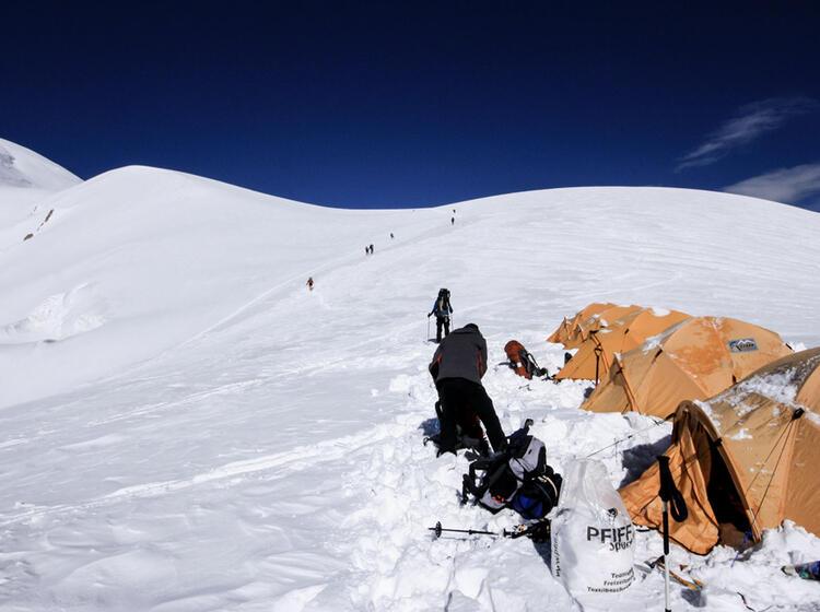 Aufstieg Zum Lager 2 Von Lager 1 Pik Lenin Expedition 30