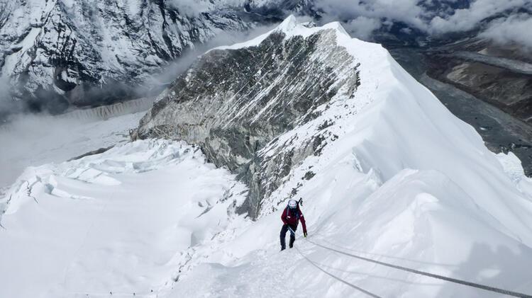 Aufstieg Zum Lobuche East Gipfel Expedition Island Peak 9