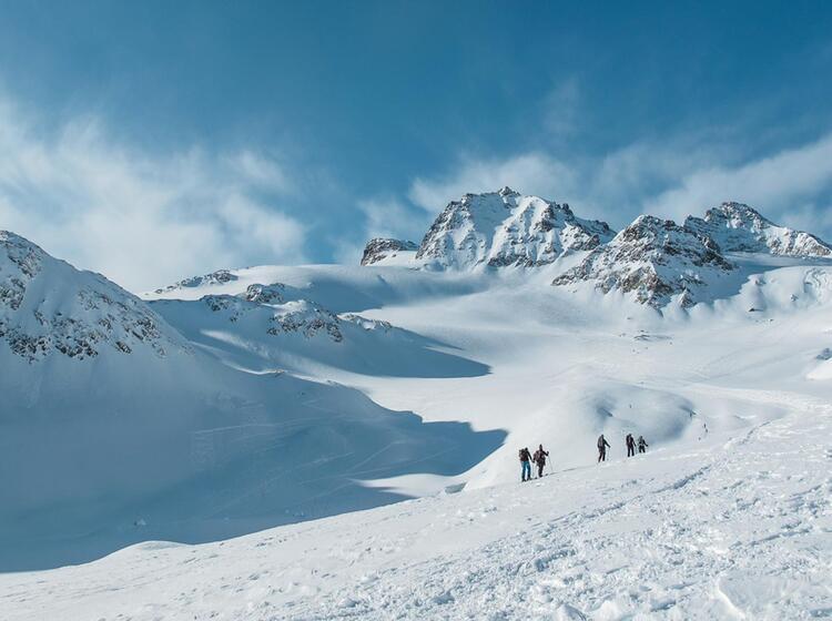 Aufstieg Zur Hinteren Jamspitze In Der Silvretta