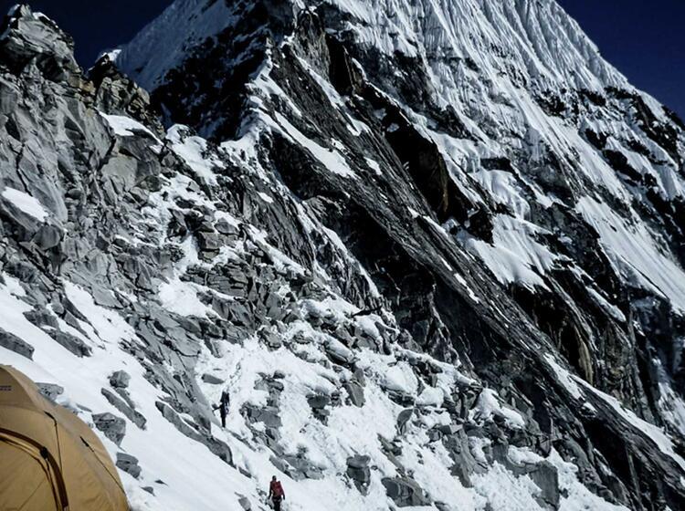Aufstiegsroute Zum C2 Vom C1 Aus Gesehen