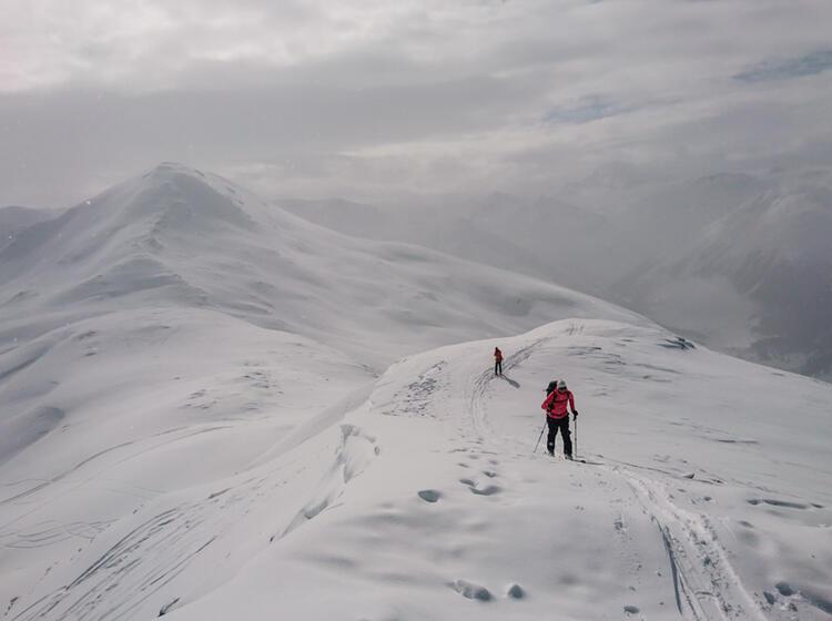 Aufstiegstechnik Beim Skitourengehen Lernen