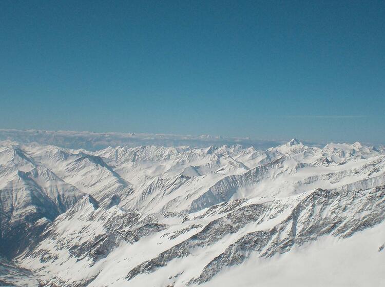 Ausblick Auf Die Tauern Auf Der Durchquerung Hoch Tirol