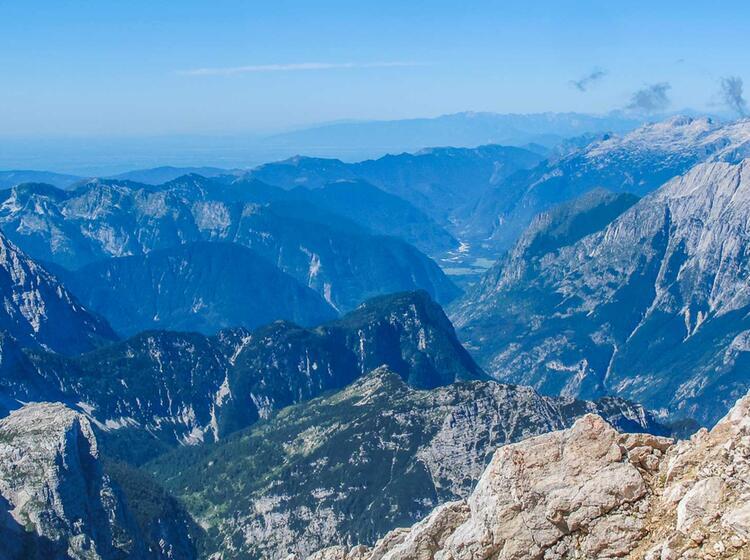 Ausblick In Die Julischen Alpen Vom Klettersteig Triglav