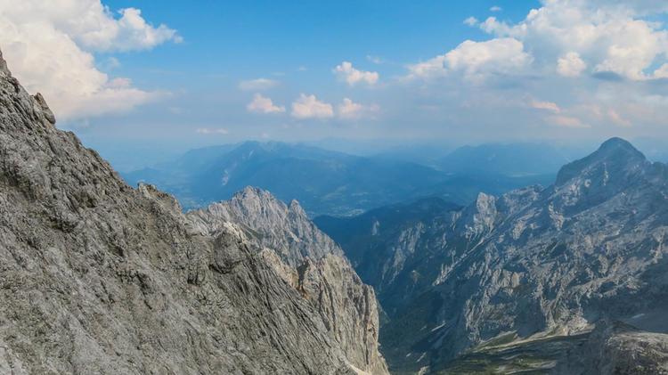 Ausblick Vom Hoellental Klettersteig Zur Alpsspitze