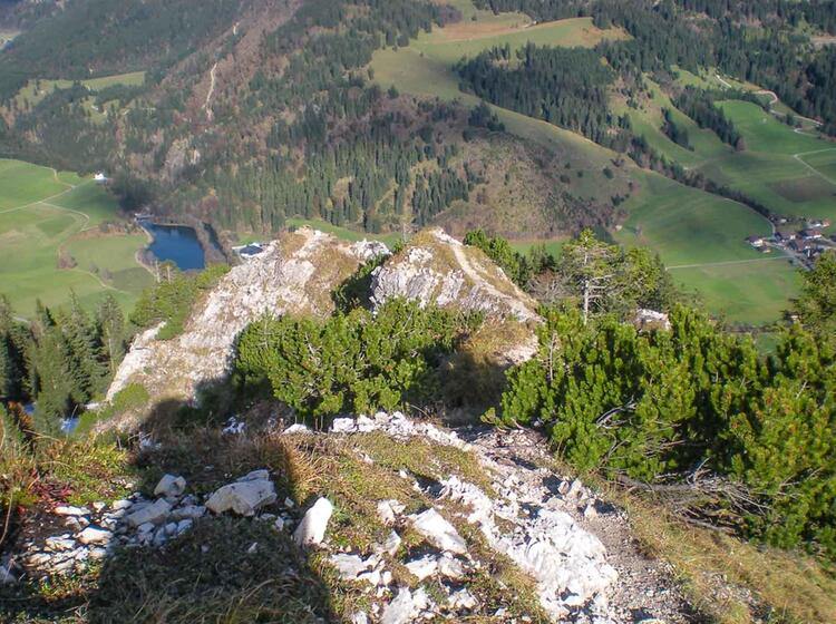 Ausblick Vom Iseler Klettersteig Im Allgaeu