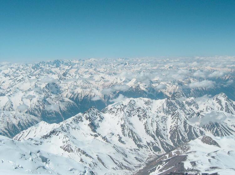 Aussicht Vom Elbrus In Den Kaukasus