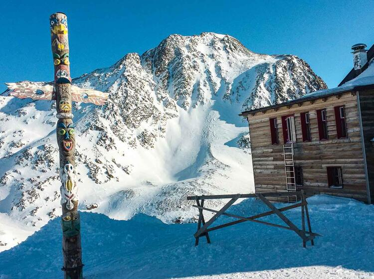 Aussicht Von Der Bella Vista Auf Der O Tztaler Skidurchquerung Venter Runde