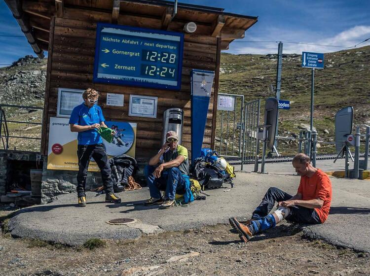 Bahnfahrt Vom Rotenboden In Der Schweiz Nach Zermatt