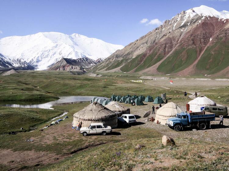 Basislager Achik Tasch Pik Lenin Expedition 42