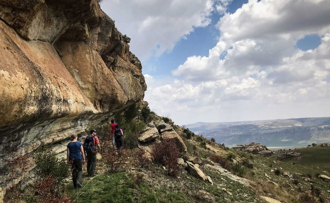 Basotho Hiking Rockpaintings 1