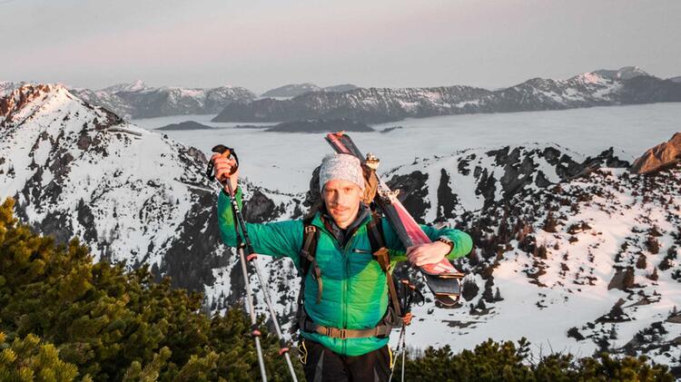 Bergfuehrer Benedikt Fritz Auf Skitour In Berchtesgaden