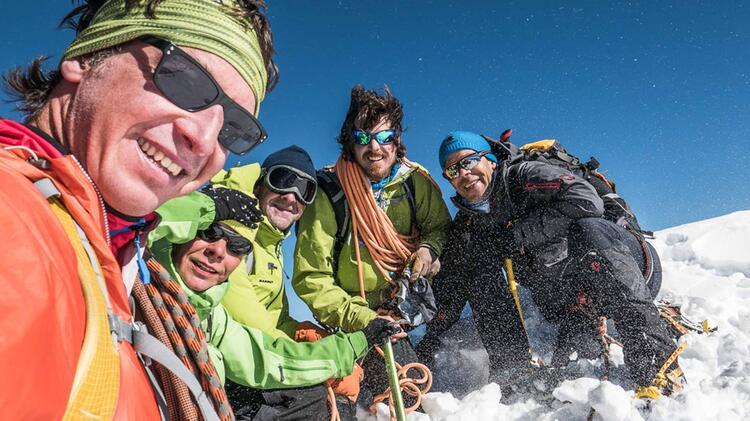 Bergfuehrer Christoph Hummel Am Gipfel Des Mont Blanc